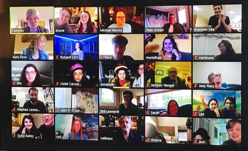 Screenshot of Zoom meeting with YPW participants